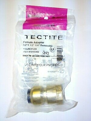"""Tectite Sharkbite Style 1/2"""" Push-to-Connect x 1/2"""" FPT Female Adapter"""