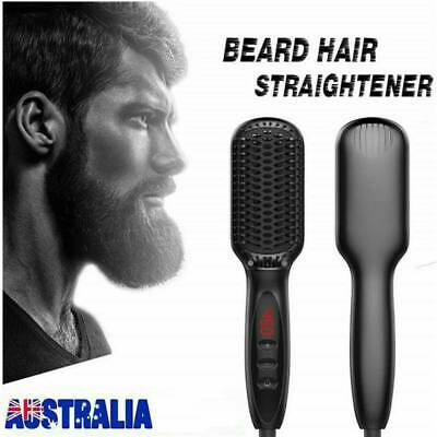 Adjustable Quick Heating Beard Straightener Hair Comb Curling Curler For Man HOT