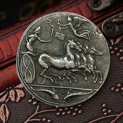 Iron Plated Gold Ancient Greek Rome Commemorative Collector Coin Gift 23*3 T1EY