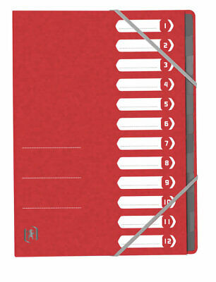 "Trieur ""Top File+"" - 12 compartiments - Rouge"