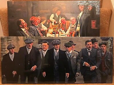 """2 Different Peaky Blinders Canvas designs  24""""x 10"""" On A Wooden Stretcher Frame"""