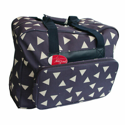Sewing Machine Bag Blue with White Triangles | Sew Easy MR4660.010/600D