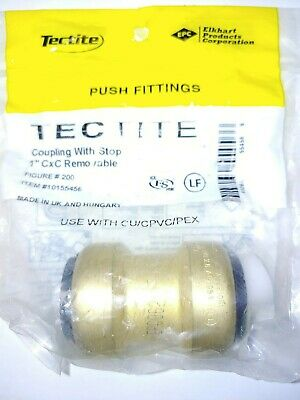 """Tectite Sharkbite Style 1"""" Push-to-Connect Coupling, Brass 1 in. x 1 in."""