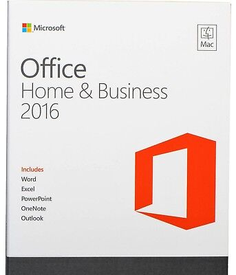 MICROSOFT OFFICE 2016 HOME & BUSINESS PER MAC, LICENZA x 1 PC, ESD, FATTURA