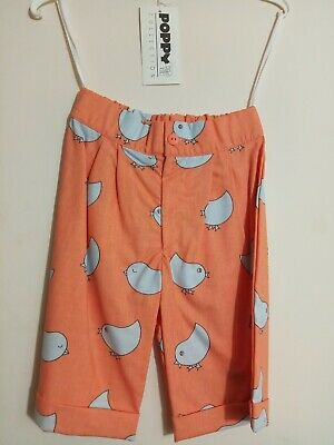 vintage 80s peach chicks 100% cotton long shorts/trousers 2 years