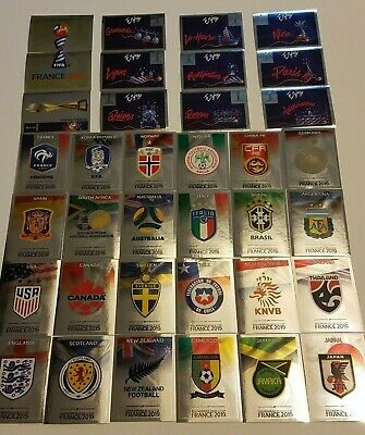 Panini Fifa Womens World Cup France 2019 - Foil, Emblems & Shiny Stickers.
