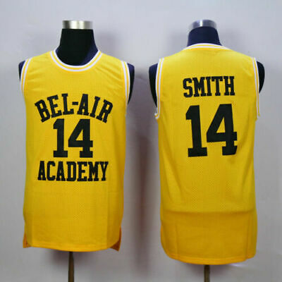 Fresh Prince of Bel-Air Will Smith 14 Bel-Air Academy Basketball Jersey S-XXL