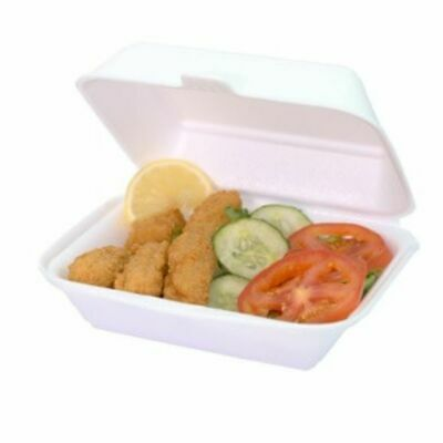 Polystyrene Foam Food Meal Burger Fish & Chips and Containers Takeaway Boxes Box