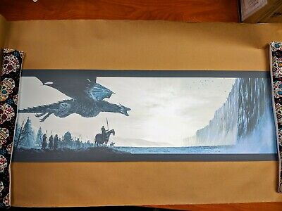 """Game of Thrones SCREENPRINT by ENGLERT """"NOW THEIR WATCH IS ENDED"""" T.E. NOT MONDO"""
