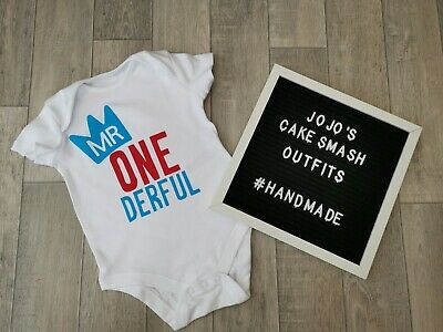 Boys 1st Birthday Vest Top Tshirt. 9-12,12/18. Cake Smash. Photo Prop. One