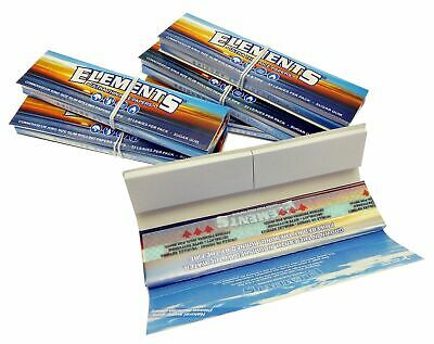 Lot Of 6 Packs Connoisseur Elements King Size Thin Rice Rolling Papers and Tips
