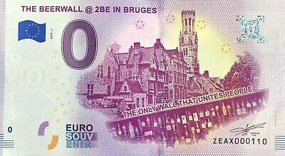 Billet 0 Euro The Beerwall @ 2Be In Bruges  2019-1  Numero Divers