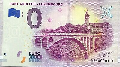 Billet 0 Euro Pont Adolphe Luxembourg  2019-1