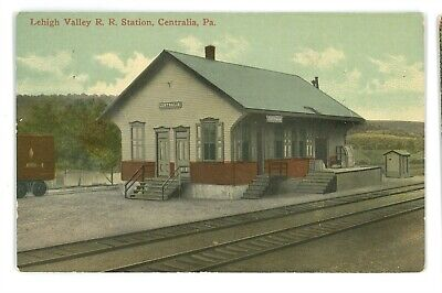 LVRR LEHIGH VALLEY RAILROAD Station Depot CENTRALIA PA Ghost Town! Postcard