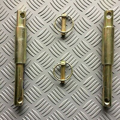 Tractor Lower Link Pins, Cat 1 / Cat 2, Stepped pins, with Linch Pins,   pair