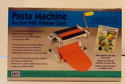 NEW!! AMACO Crafting Pasta Machine for Polymer Clay Soft Metal Sheets 7 Settings