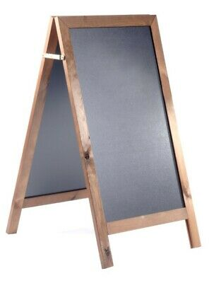 Wooden Economy A-Board. Chalkboard A-Board. A Frame, A-Board. Pavement Sign.