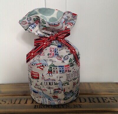 Handmade Cath Kidston Small London Maps Fabric Reversible Door Stop UNFILLED