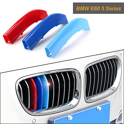 11 Beams Car Front Grille Strip Insert Trim Cover for BMW 3 Series F30 13-17 3D M-Colored Stripes