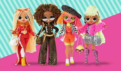 Complete Set 4 LOL Surprise OMG SWAG NEON DIVA ROYAL BEE Doll IN HAND