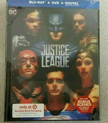 Justice League Target Exclusive DigiBook (Blu-ray + DVD + Digital)