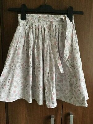 Girls pink and grey full cotton skirt age 8