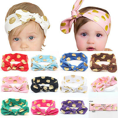 Baby Girl Kids Toddler Bunny Cute Bow Knot Elastic Headband Head Wrap Hair Band