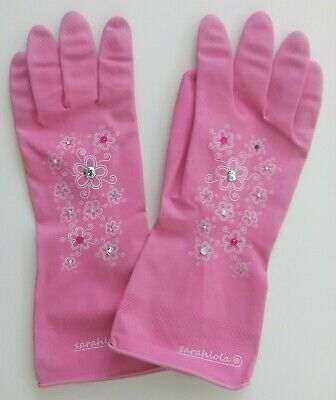 Washing up / rubber household gloves in pink and blue, small medium and large,