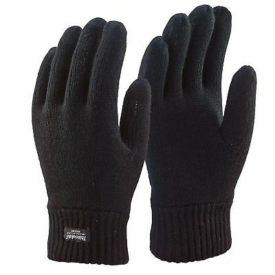 Mens Thermal Thinsulate Gloves Extreme Winter Weather Knitted Full Finger Gloves
