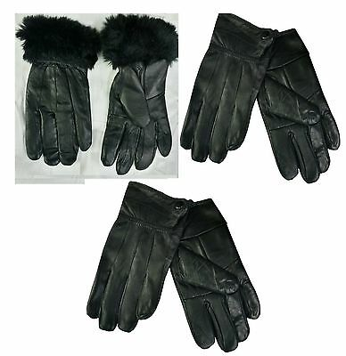 Womens Ladies Thinsulate Leather Winter Gloves  Fleece Soft Lined Warm  Gloves