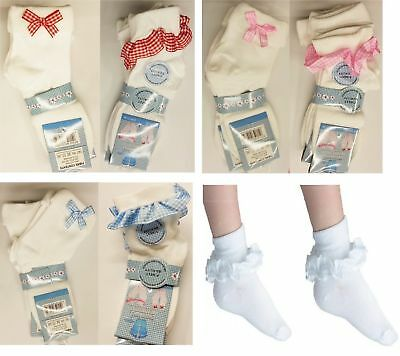 12 Pairs GIRLS SCHOOL COTTON  LACE FRILLY ANKLE SOCKS  ALL COLOUR AND SIZES