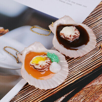 Simulated roast scallop model fake seafood oysters dish decoration 5.5*5.5*1.BL