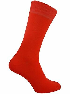 6 PAIRS MENS RED EVERYDAY USE LYCRA CREW SOCKS COMFORTABLE BUSINESS Size 6-11