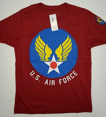 Marvel  Comics Captain Marvel U.S. Air Force Graphic Youth Tee