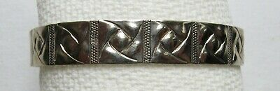 Roycroft Renaissance Hammered Bracelet, DT Artist Mark, Arts/Crafts