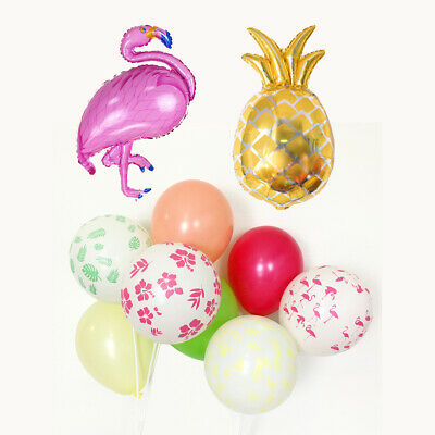 Flamingo Pineapple Balloons Hawaiian Tropical Luau Party Decorations Supplies