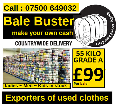 used grade A clothes 55 KILO BALES ladies and mens - BEST SELLER