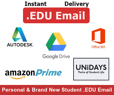 ✪INSTANT 5M DELIVERY✪US EDU Email Free Amazon Prime+Unlimited GoogleDrive+Office