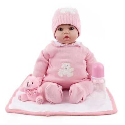 20'' Reborn Baby Doll Lifelike Newborn Dolls Vinyl Silicone Birthday US STOCK