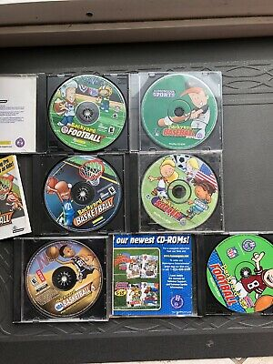 Lot Of 4 Backyard Sports Pc Games Football Basketball Hockey Tested