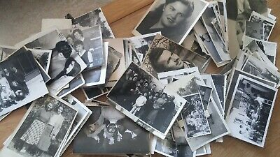 📷 Lot of 100 Original Random B&W Found Old Photos Vintage Snapshots 📷