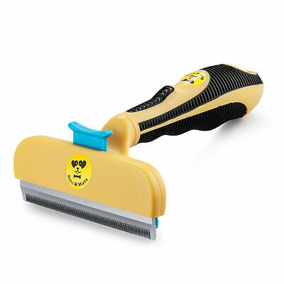 Professional deshedding tool for ~ DOGS ~ Grooming hair remover brush EASY CLEAN