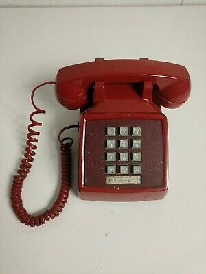 Vintage Red Western Electric Bell Push Button Telephone