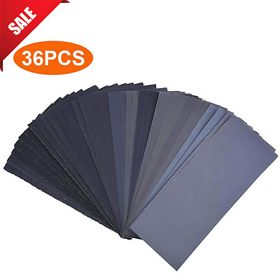 SANDING PAPER Wet Dry Wood Furniture Finishing Automotive Polishing Sanding 36PC