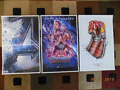"Avengers End  (11"" x 17"") Movie Collector's Poster Prints ( Set of 3 )"