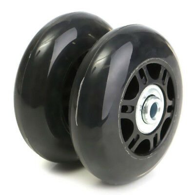 Pair Luggage Suitcase Replacement Wheels OD 70mm x 22mm Axles Rubber Repair NEW*