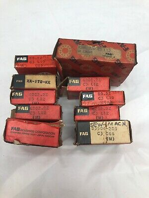 Lot of 10 Different Sizes FAG Brand Precision Ball Bearings with Packaging