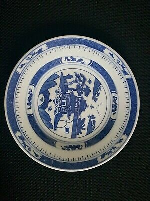 "Vintage Chinese Export Blue  White -Canton,- 8""."