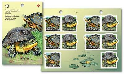 2019 Canada 🍁 ENDANGERED TURTLES 🍁 Booklet of 10 Stamps