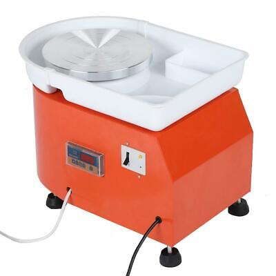 350W Electric Pottery Wheel Ceramic Machine Foot Pedal Hand Control Clay NEW